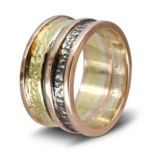 Three Colour Gold Ring Rose gold yellow gold white gold