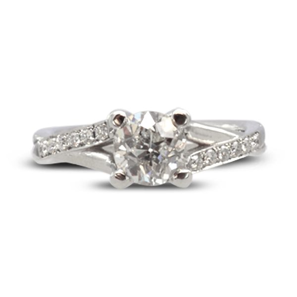 twisted ring diamond engagement ring