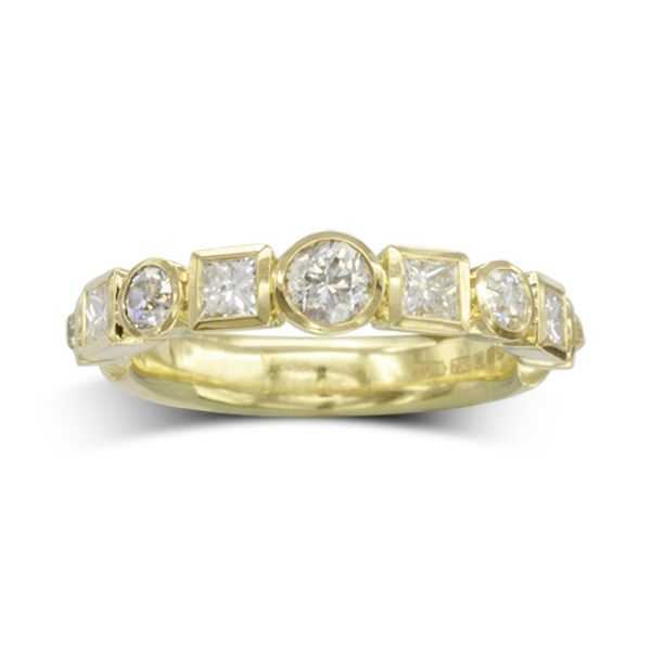 alternating shapes eternity ring