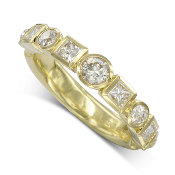 Gold Unusual Eternity Ring