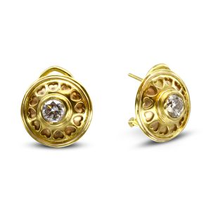roman diamond earrings in 22ct gold