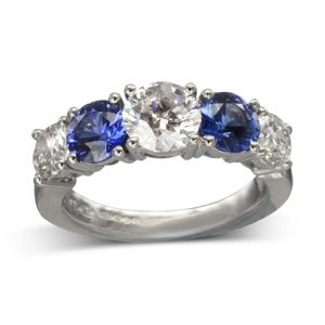 Sapphire Diamond Dress Ring