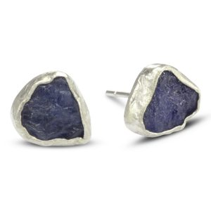 Rough Tanzanite Earstuds