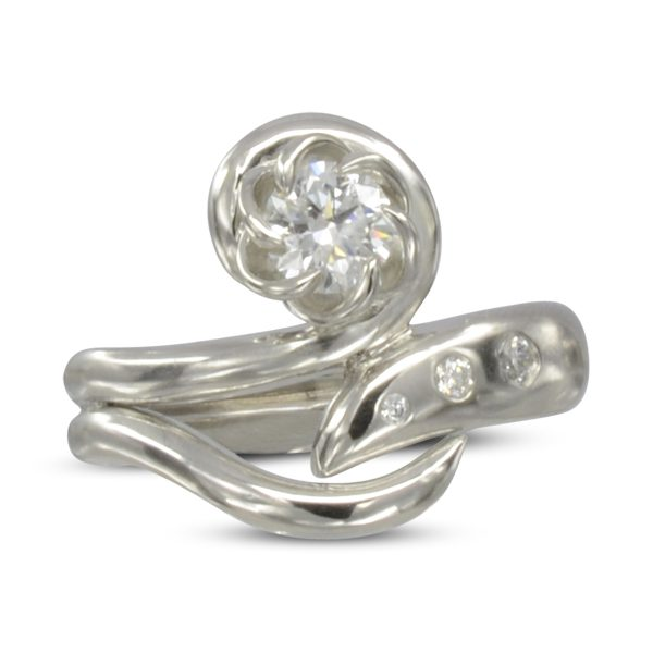 Organic Twisting Claws Engagement Ring