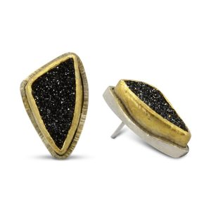 New Design Black Onyx Druzy Earstuds