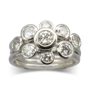 Platinum Diamond Stacking Ring