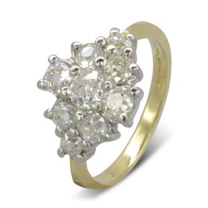 Claw Set Diamond Cluster Ring