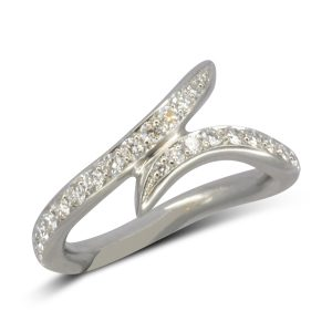 Bespoke organic form fitted diamond wedding ring