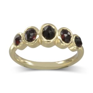 Five Ruby Gold Ring