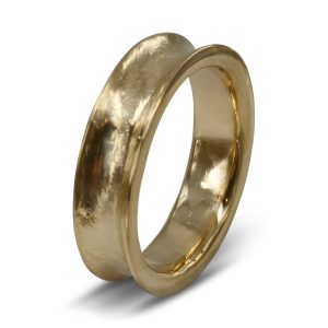 Gold Concave wedding band