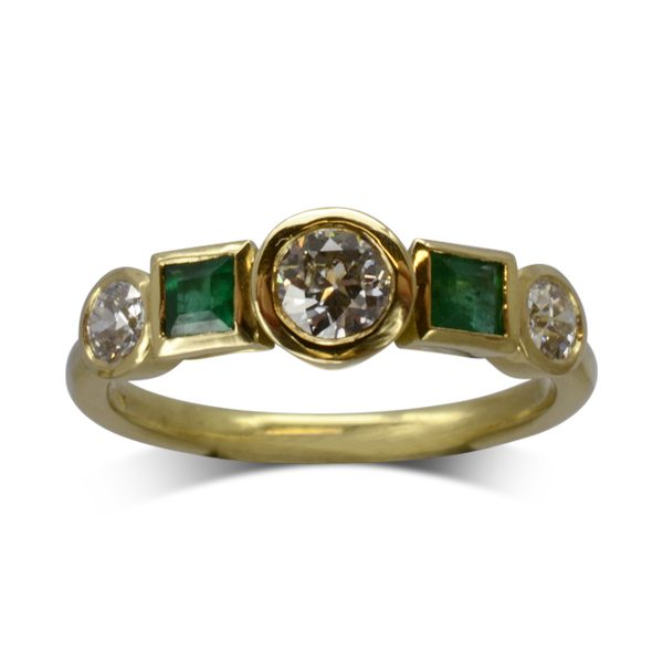 Bespoke Emerald Diamond Ring