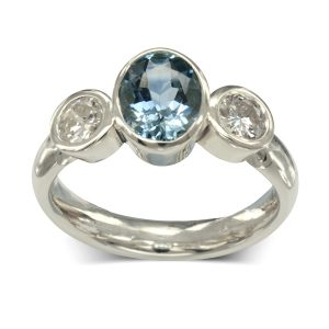Aquamarine Trilogy Ring