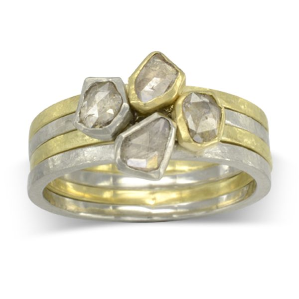 rough diamond stacking rings