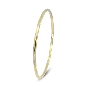 Hammered Gold Round Bangle
