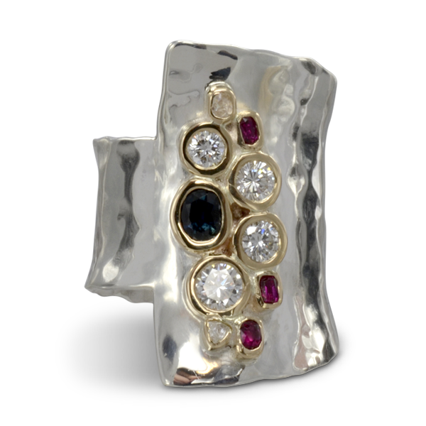 Redesigning Old Jewellery of Sentimental Value bespoke Unusual Giant Cuff Ring