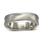 Bespoke Palladium side hammered wedding ring