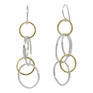 Rough Hammered Chain Earrings