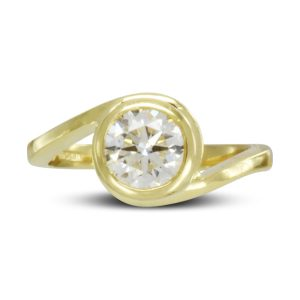 diamond gold wrap engagement ring