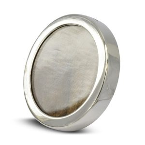 small round silver frame