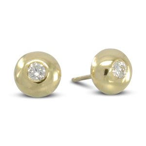 diamond pebble earstuds