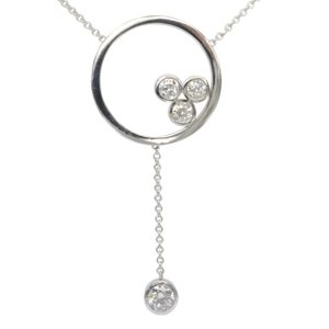 diamond loop pendant