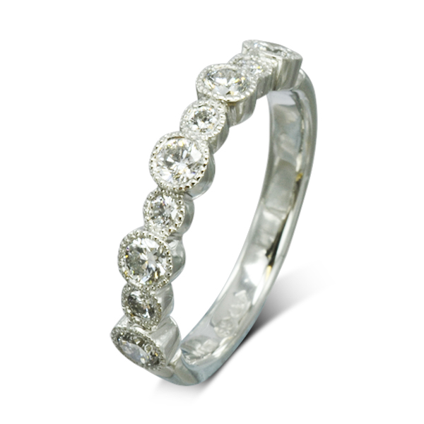 Alternating vintage half eternity ring Sussex