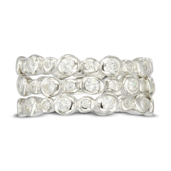 slim alternating nugget eternity ring