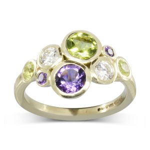 suffragette cluster ring