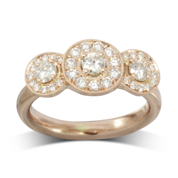 vintage trilogy cluster ring
