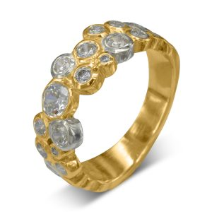 Two colour diamond eternity ring