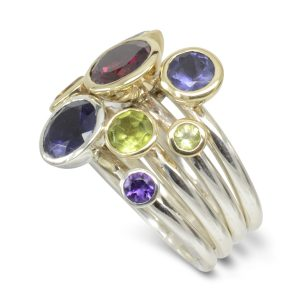 Joined Multicolour Stacking Ring