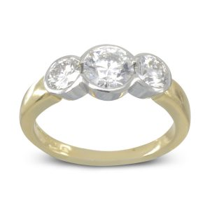 Gold Platinum Diamond Trilogy Ring