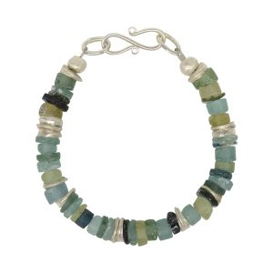 Roman Glass Button Bracelet