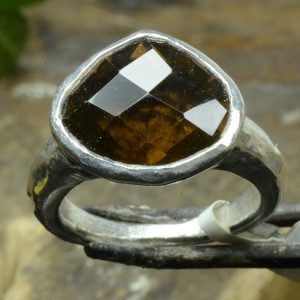 Sale Amber Silver Ring