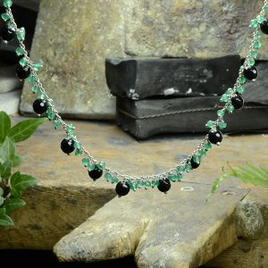 Green Black Necklace