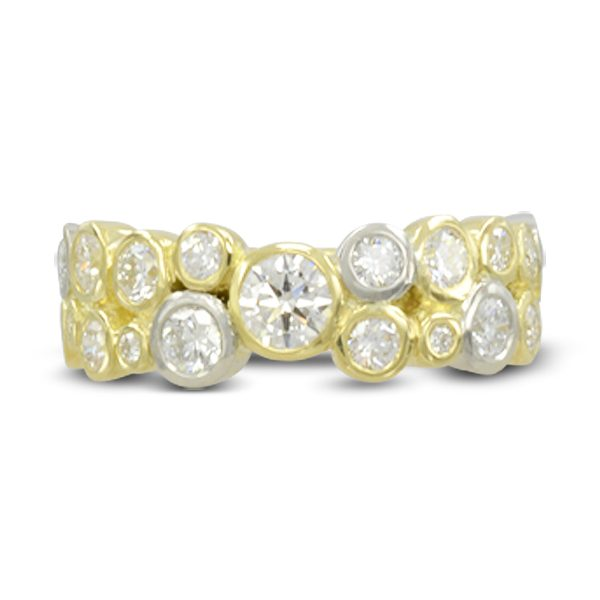 Bespoke Two colour gold bubbles eternity ring