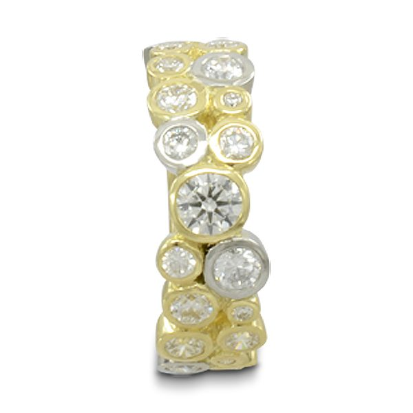Recycle your old jewellery Two colour gold bubbles eternity ring