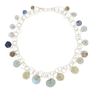 Vintage Glass Disc Necklace