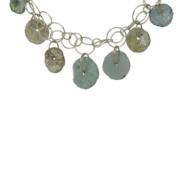 Roman Glass Disc necklace
