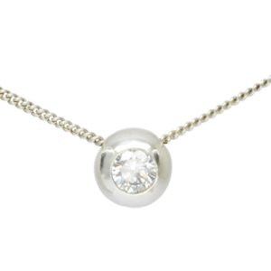Diamond Pebble Slider Pendant