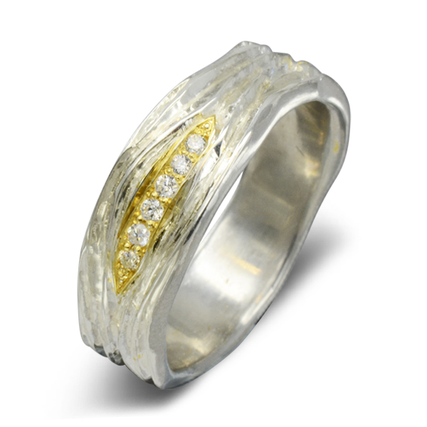 bespoke two colour gold diamond eternity ring