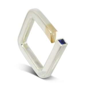 Two Colour Square Ring