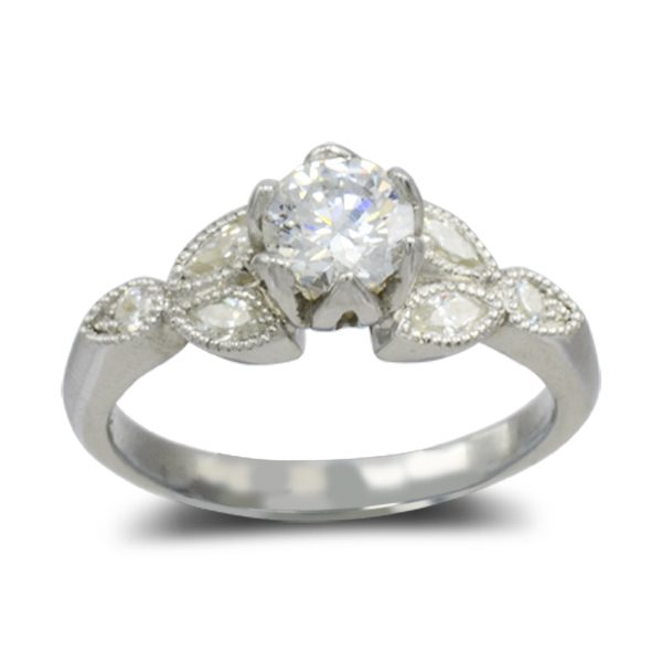 contemporary classic engagement ring