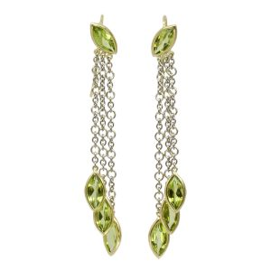 Peridot cascade earrings
