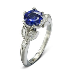 Sapphire vintage engagement ring