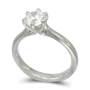 Platinum Six Claw engagement ring