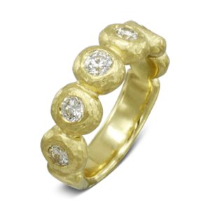 Gold Diamond Nugget Eternity ring