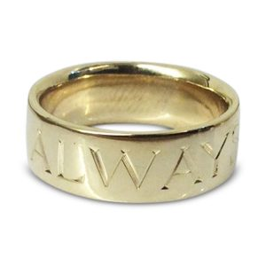 Engraved Letter Decoration Wedding ring