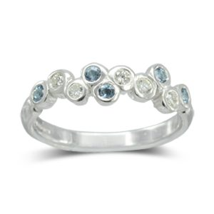 Aquamarine Bubbles Eternity Ring