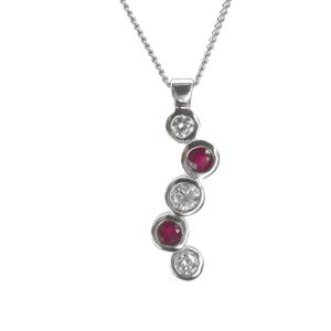 Ruby Diamond Platinum Pendant